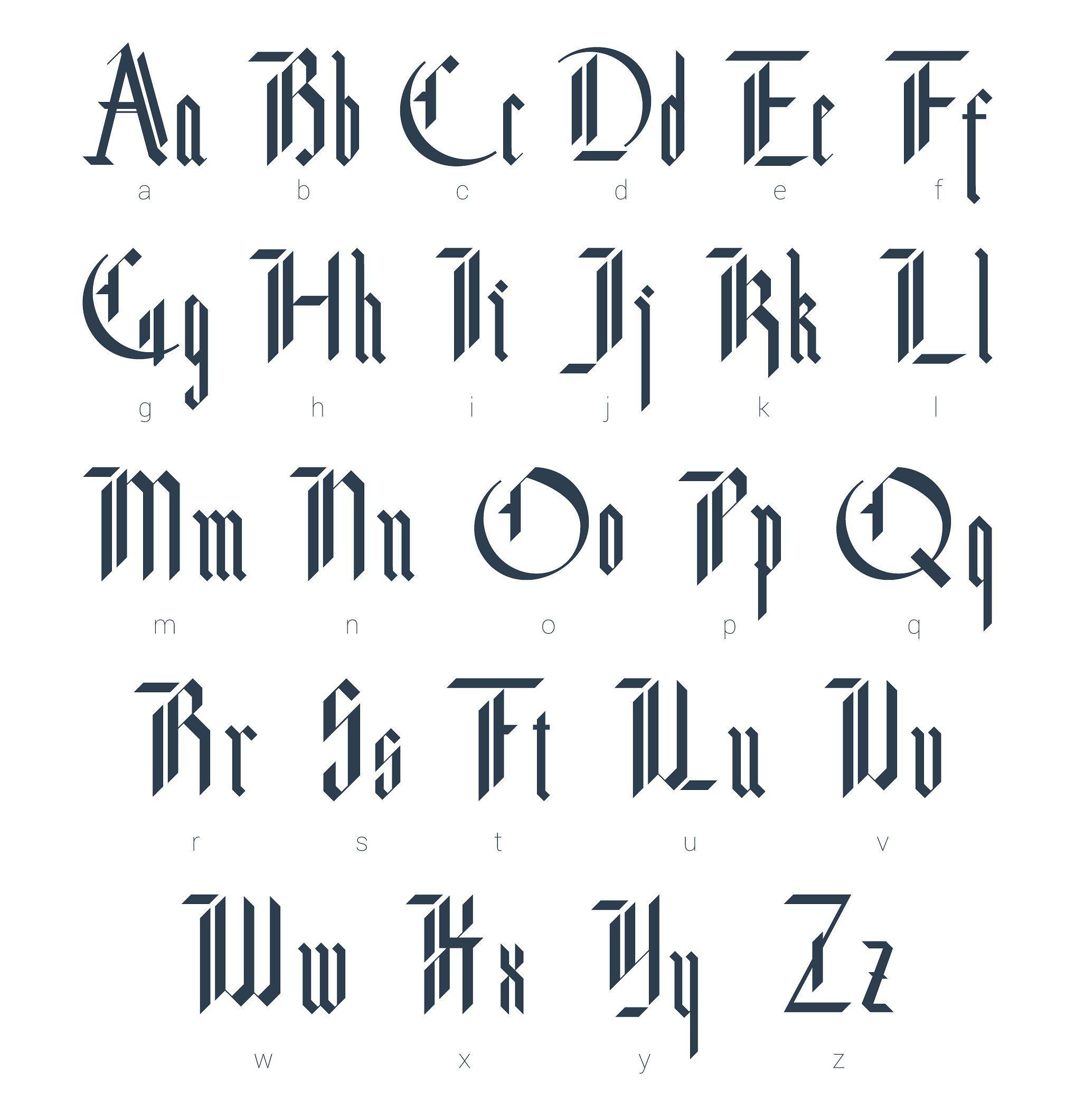 Blackletter Modern Gothic Font By Supermne On Creativemarket