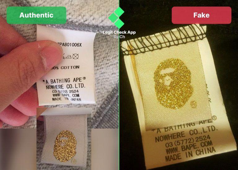 Bape gold tag real vs fake comparison guide legit check