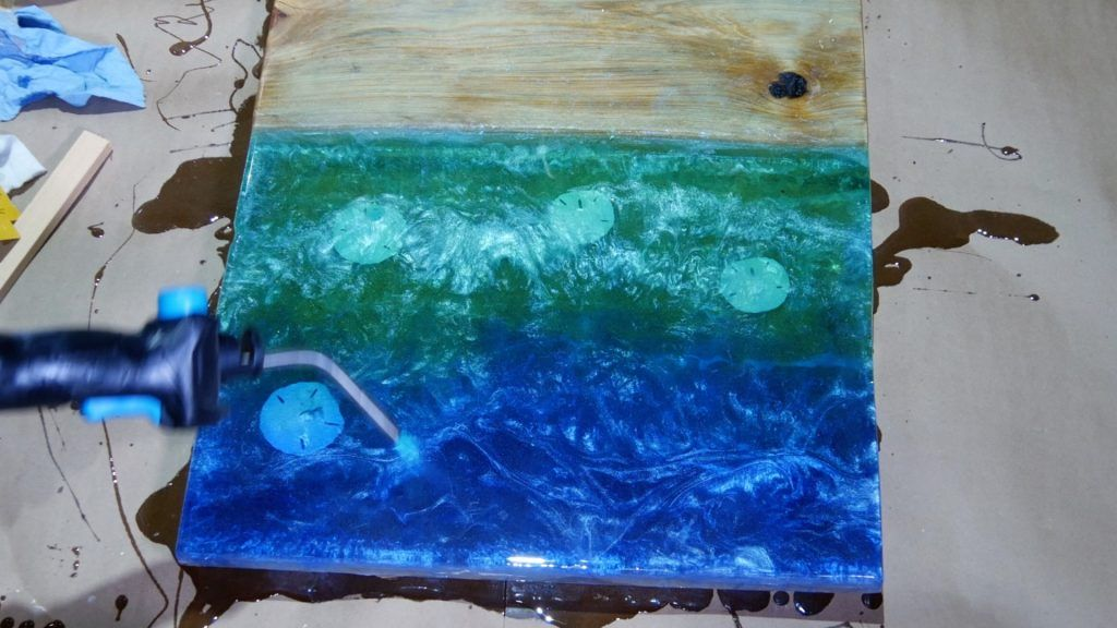 Diy Wood And Resin Beach Art With Real Sand Resin Diy