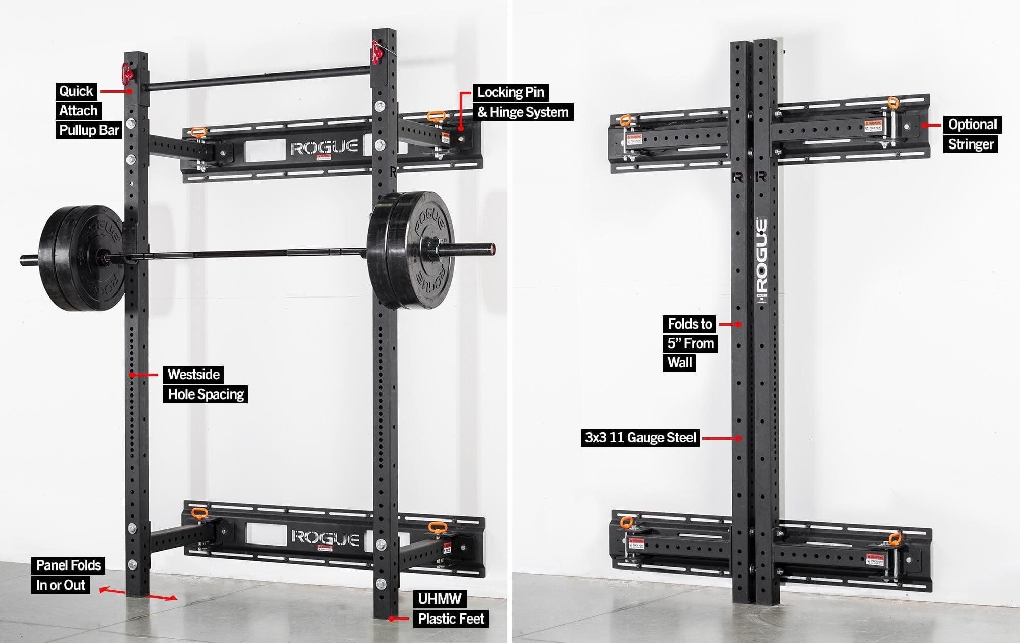 Rogue Rml 3w Fold Back Wall Mount Rack With Images Wall Mount Rack Home Gym Garage At Home Gym