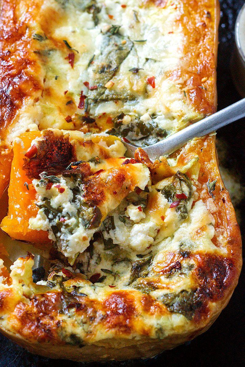 Creamy Four Cheese Spinach Butternut Squash Best