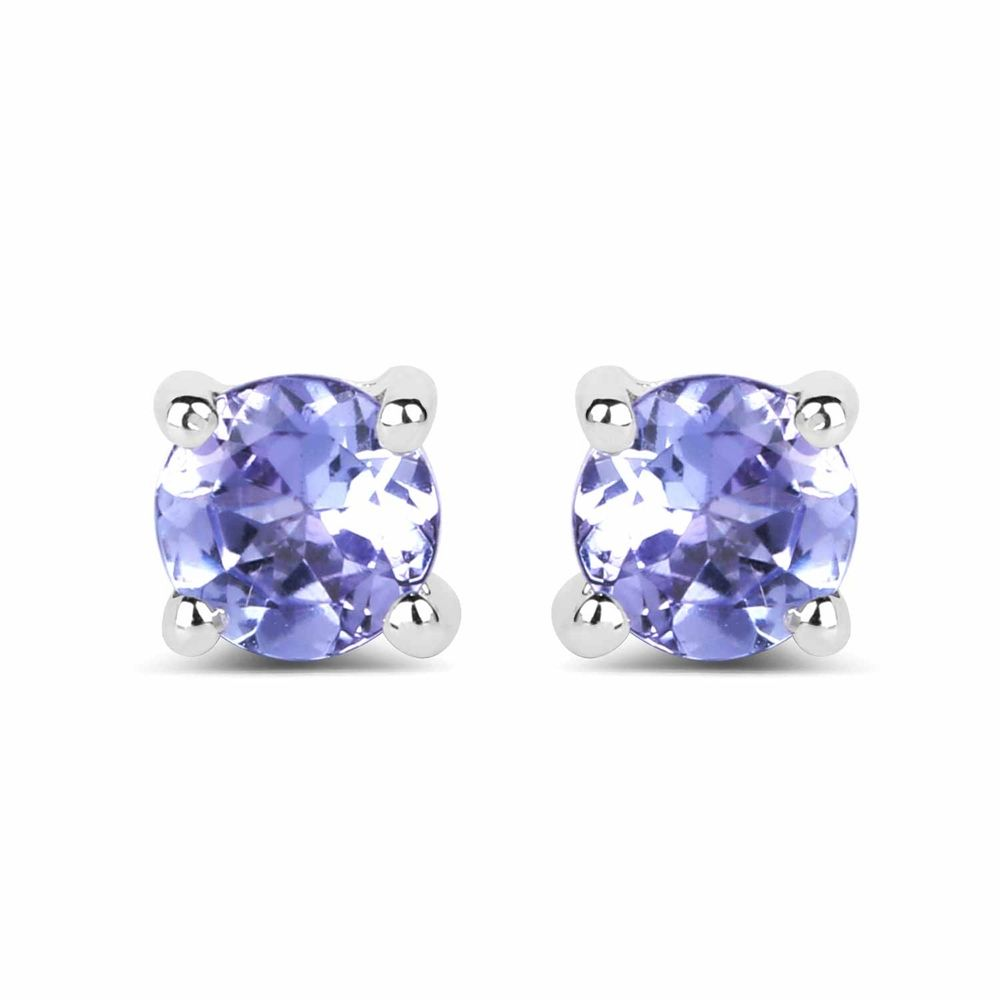 33 925 Sterling Silver 0 46ctw Genuine Tanzanite Earrings