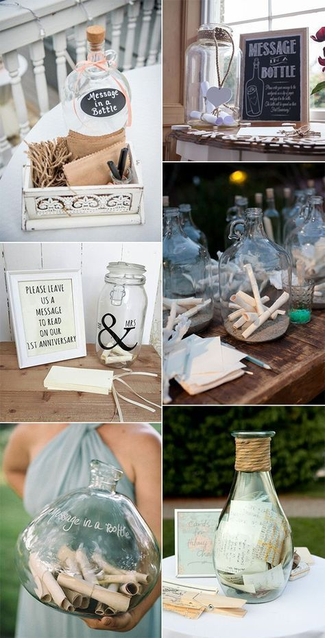 mensaje en una botella ideas de libro de visitas de boda #weddingideas #weddingguestbooks – …