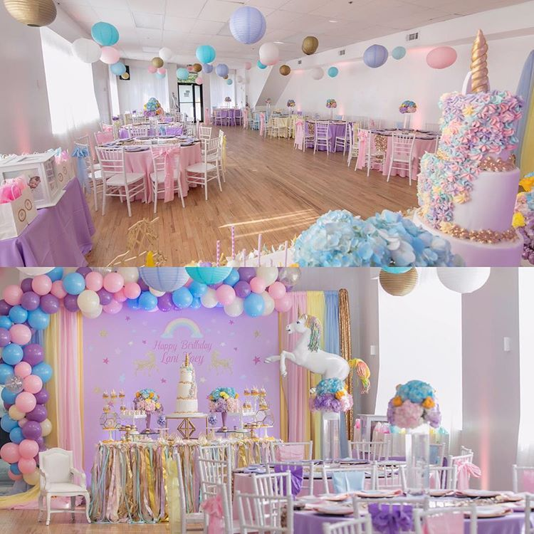 Good Morning We Will Have Open House Today Tworoseseventsstudiobk Brooklyn Venue W Unicorn Themed Birthday Party Birthday Party Decorations Birthday Parties