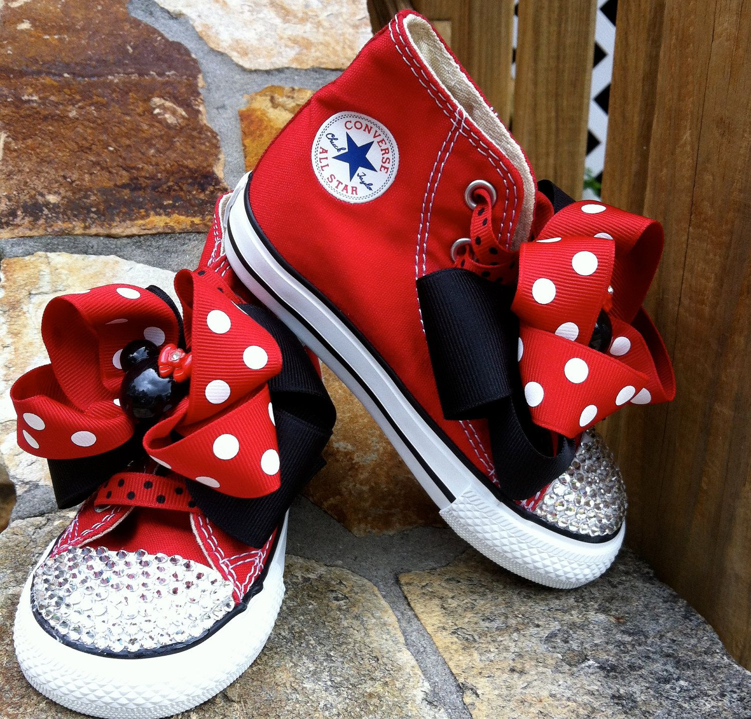 Mickey Mouse Swarovski Converse High Top by TuTooCuteTutus on Etsy