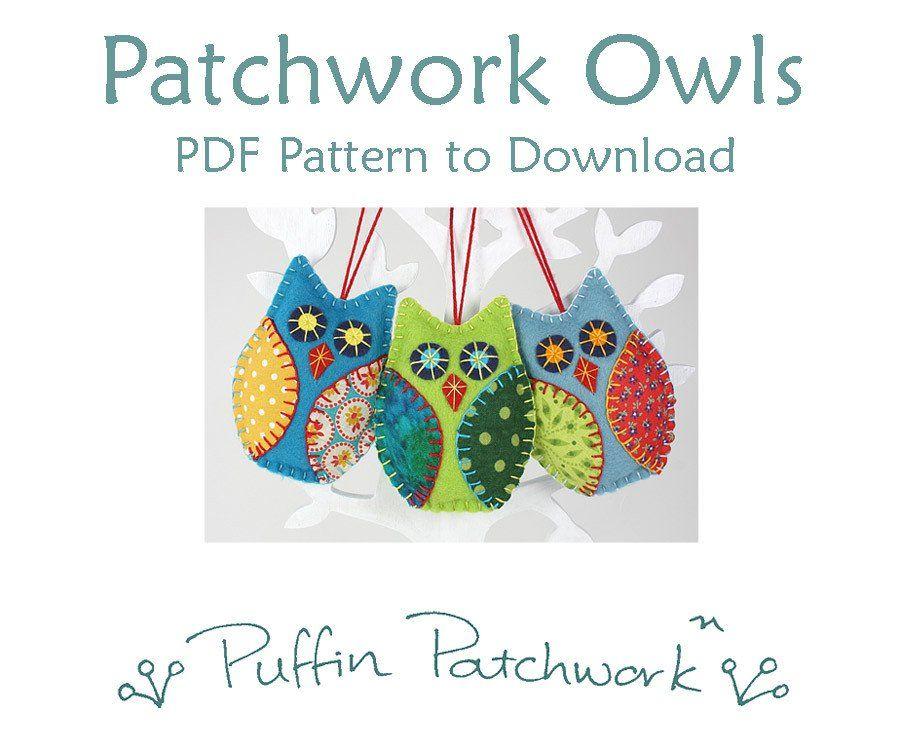 felt owl ornament pdf sewing pattern oh christmas tree