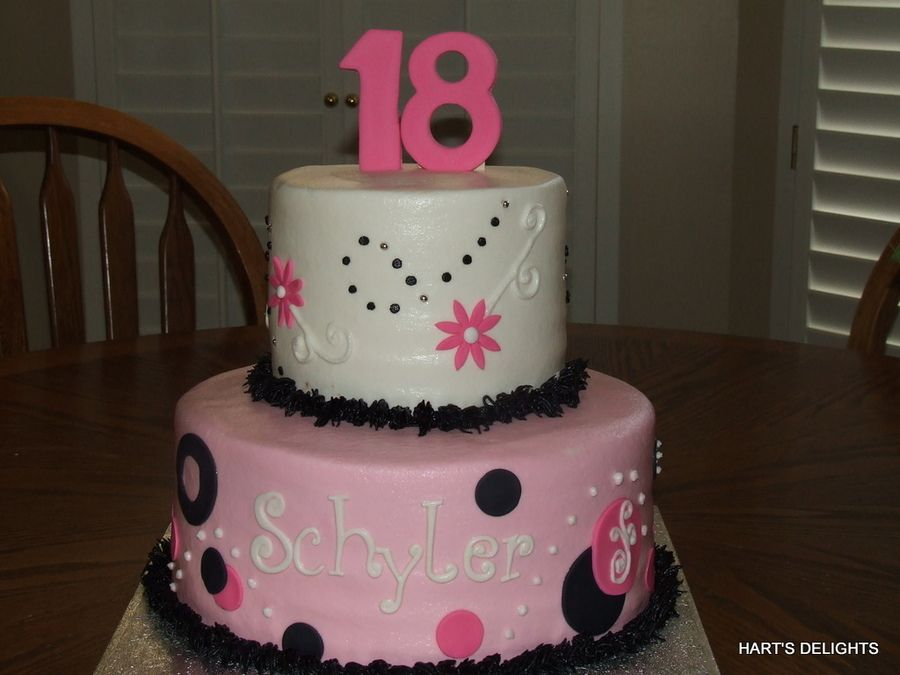 18th Birthday Cake With Images 18th Birthday Cake Birthday