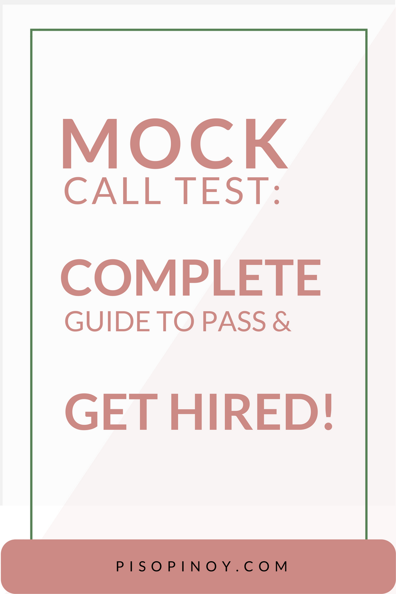 Mock Call Tips and Scenario Complete Guide to Pass & Get