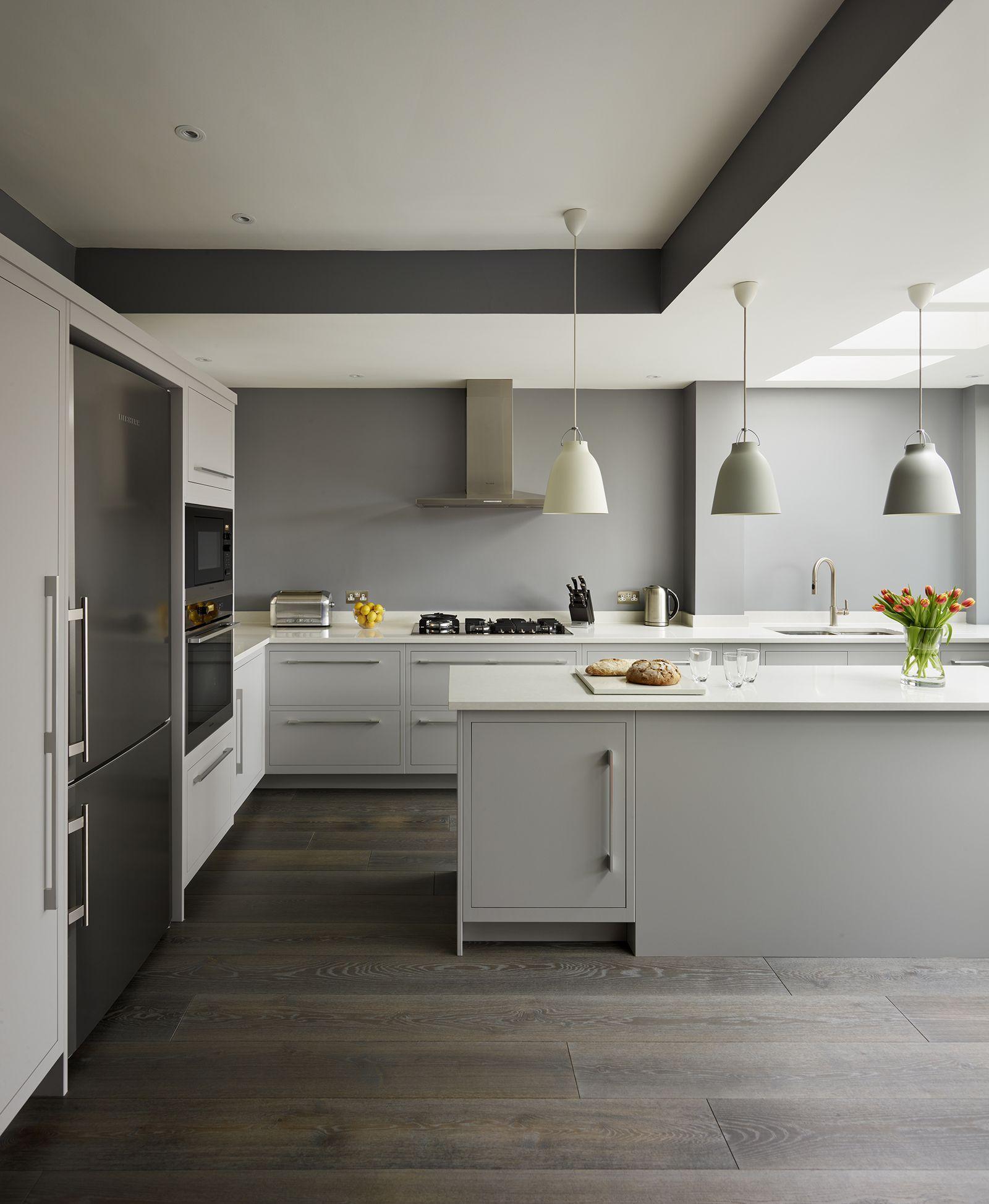 9 stunning dark kitchen ideas   Contemporary grey kitchen, Grey ...