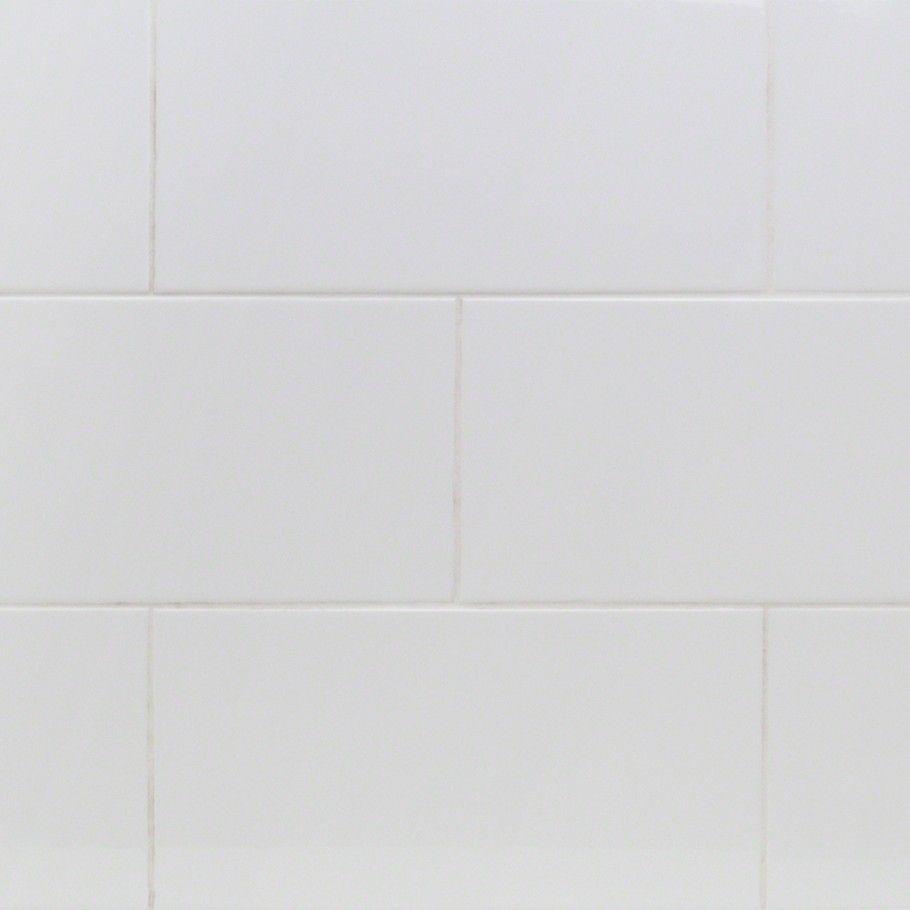 Basic White 8x16 Polished Ceramic Tile | TileBar.com