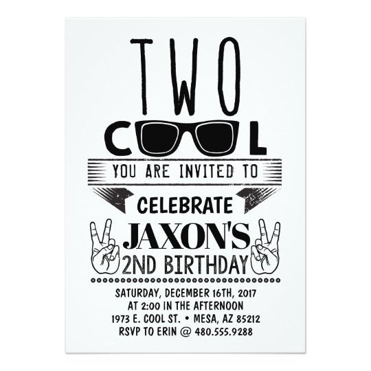 Two Cool Birthday Invitation In 2018 Two Cool Birthday Pinterest