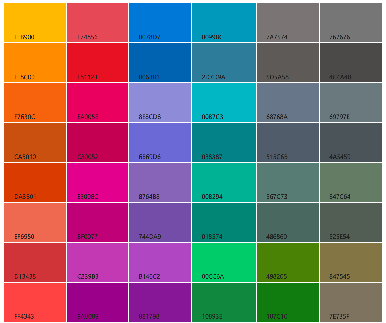 Color chart digital art color pinterest colour chart and color chart nvjuhfo Image collections