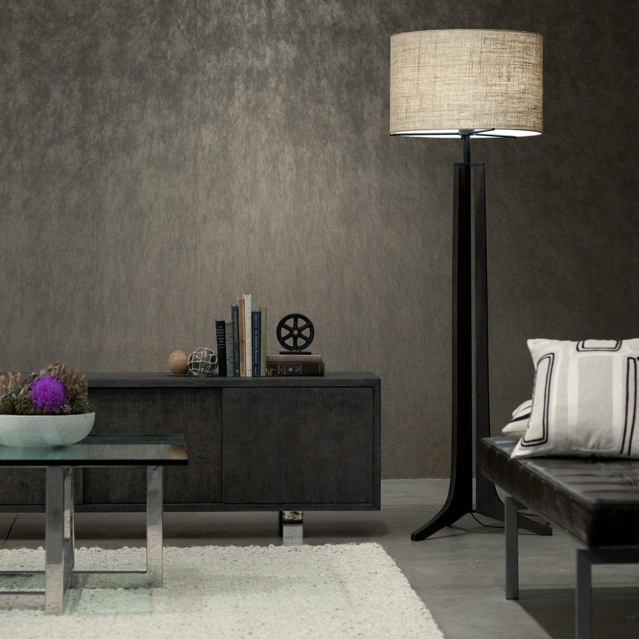 Fancy Forma Floor Lamp by Cerno Lamps living room