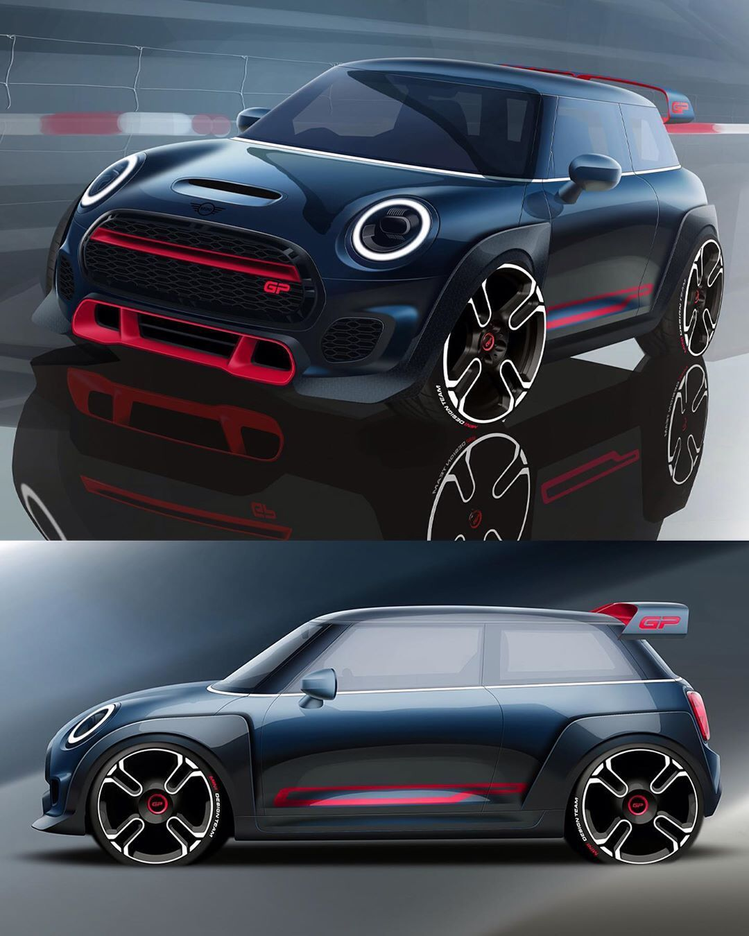 "Car Design World on Instagram: ""2020 MINI John Cooper Works GP official sketches Exterior sketches: Niels Stienhoff #cardesign #car #design #carsketch #sketch #minicooper…"" #conceptcars"