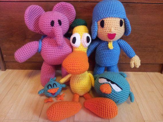 Pocoyo Amigurumi Nacións : Pocoyo & friends 5 crochet patterns bundle pocoyo crochet and