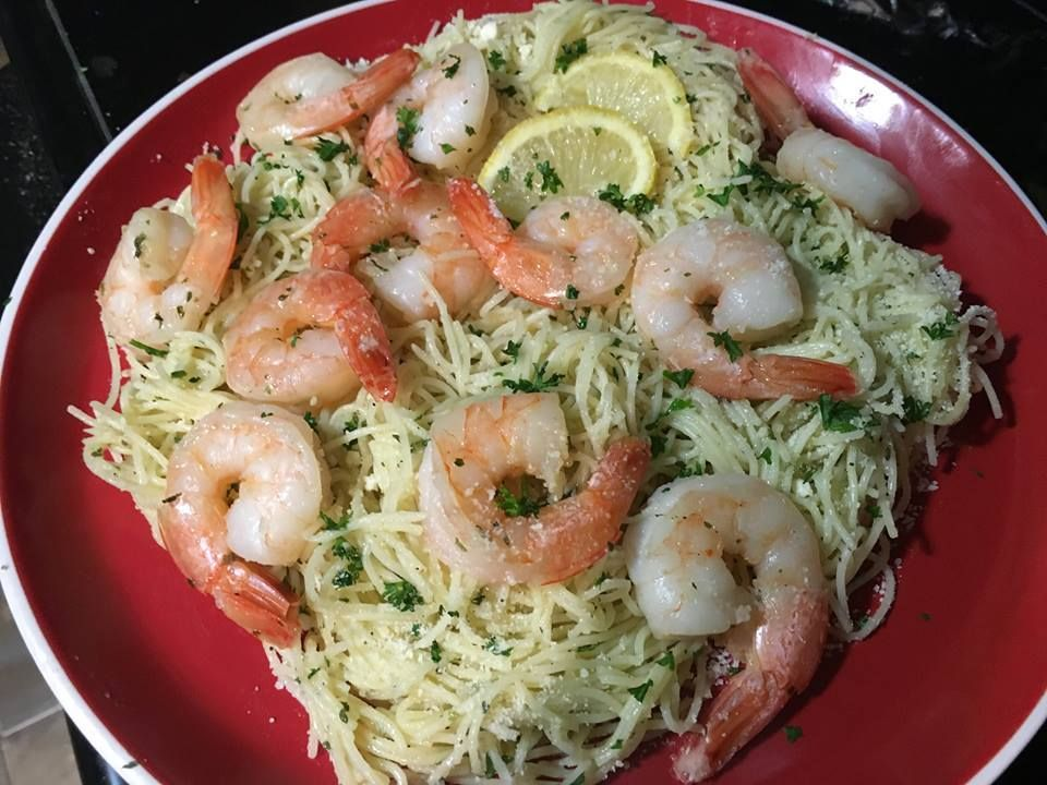 Simply cook up a package of Papa's Juicy Noodles and add sauted shrimp and you have a complete meal. BuddaBing!