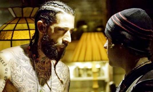who knew #AdrienBrody could pull off cornrows and tats?  #HighSchoolMovie