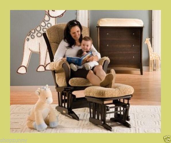 #Giftidea #ROCKINGCHAIR #Nursing Baby Kids Bedroom Nursery #Rocker Hoop Glider Ottoman BEIGE #FreeShipping #Storkcraft $194.63