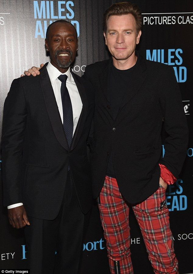 Trews company: Even the film's star Don Cheadle could not draw eyes away from Ewan's loud ...