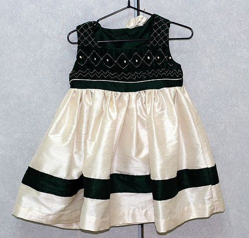 Flower Girl Dress #1 | Raw silk (green) and silk dupioni (iv… | Flickr