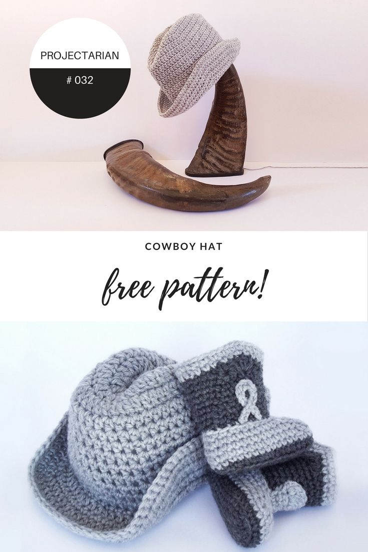 PROJECT #032: COWBOY HAT | Pinterest | Ganchillo y Bebe