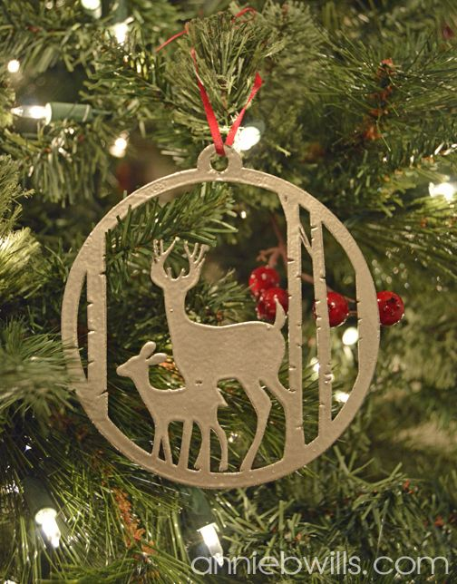 Faux Metal Christmas Ornament by Annie Williams - made using Silhouette  Chipboard and my CAMEO #silhouettedesignteam - Faux Metal Christmas Ornament By Annie Williams - Made Using
