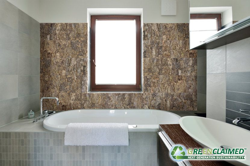 Because Tiles Are Made With The Organic Bark Of The Cork Oak Tree Each Tile Is Unique And Has Natural Color And Texture Cork Wall Tiles Cork Wall Cork Panels