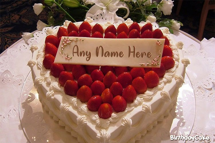 Outstanding Strawberry Birthday Cake Of Name Generator This Is The Best Idea Personalised Birthday Cards Veneteletsinfo