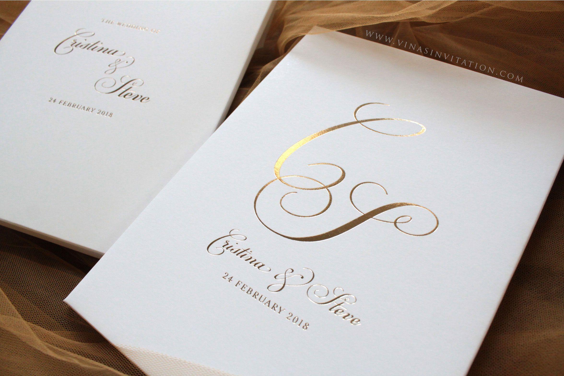 vinas invitation. sydney wedding invitation. indonesia wedding ...