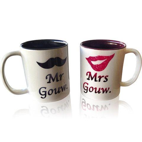 11 oz Mr and Mrs Mugs