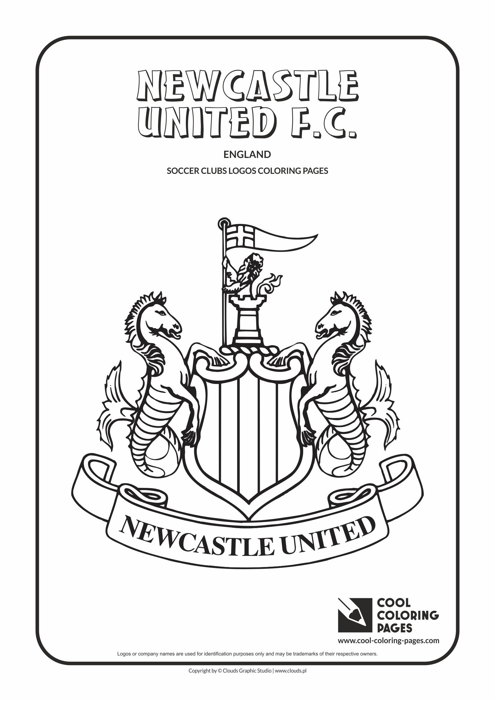 Newcastle United F C Logo Coloring Page Cool Coloring Pages