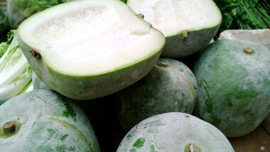 Asian Vegetables: Beans, Melons, Mushrooms, and Root Vegetables #wintermelon