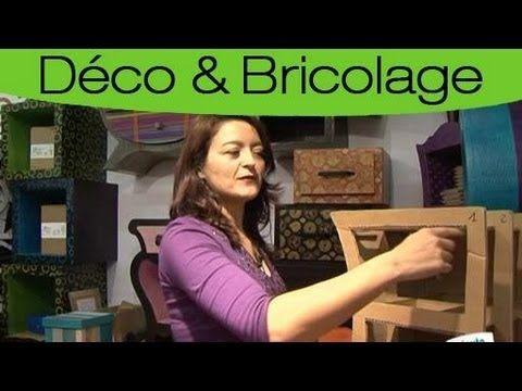 Comment Construire Un Meuble En Carton Rien De Bien Compliquer Regardez La Video Helene Poulou Meuble En Carton Meubles En Carton Organisateur En Carton