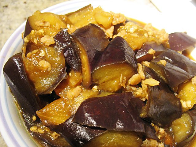 Eggplant with minced chicken   Recipes, Eggplant with ...