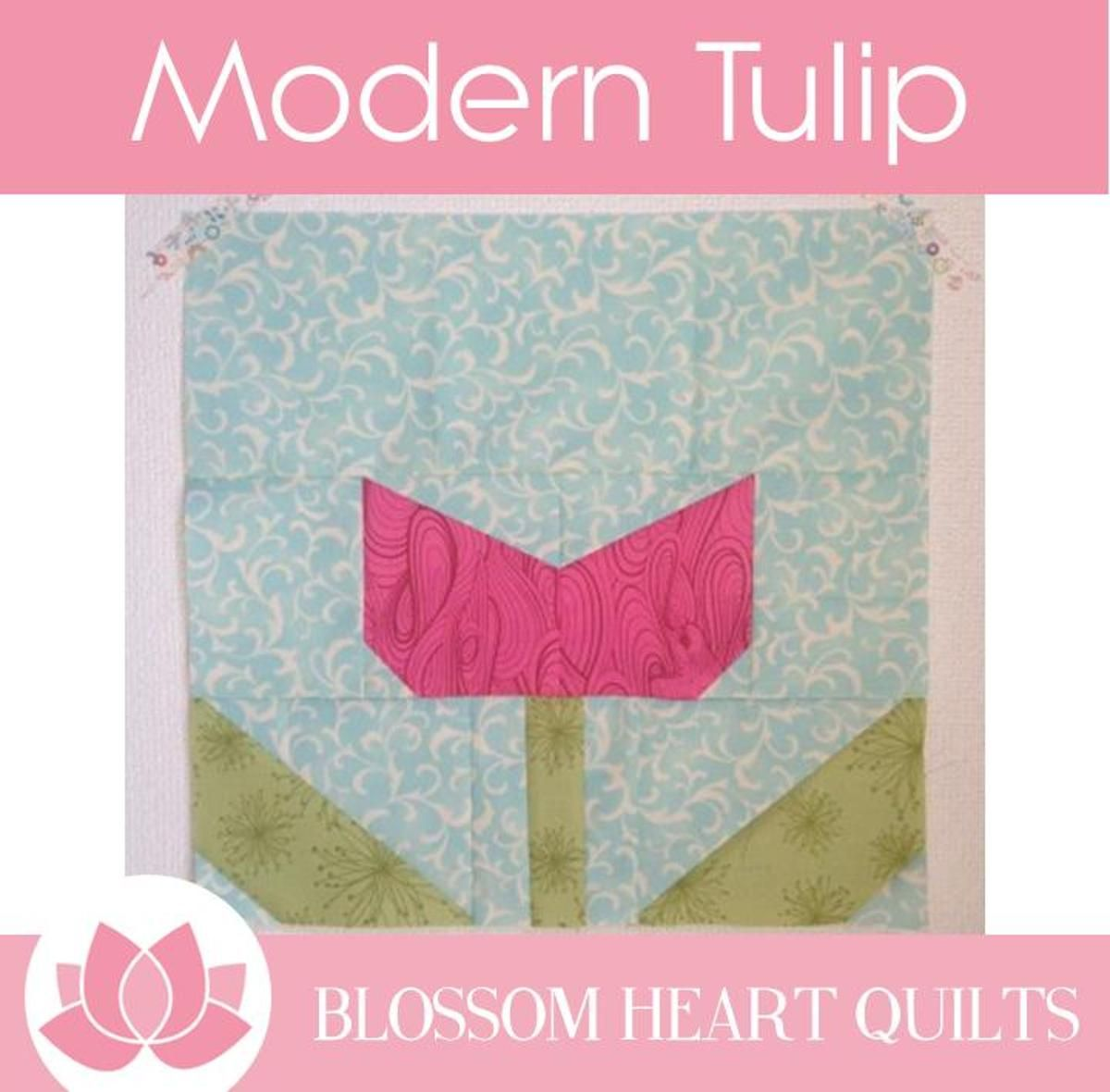 Modern Tulip Quilt Block Craftsy Flowers Travelling Quilt