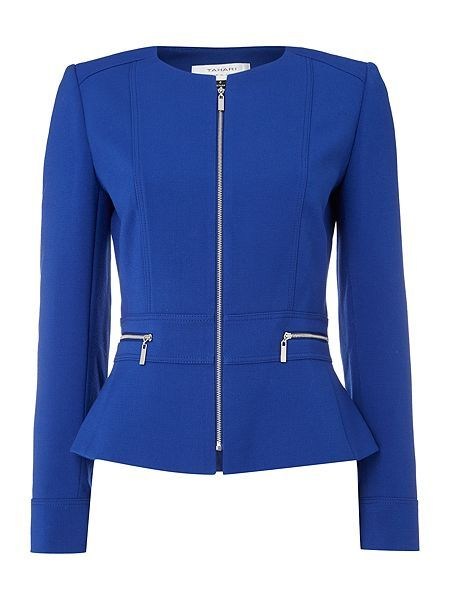Tailored Jacket With Zip Pockets