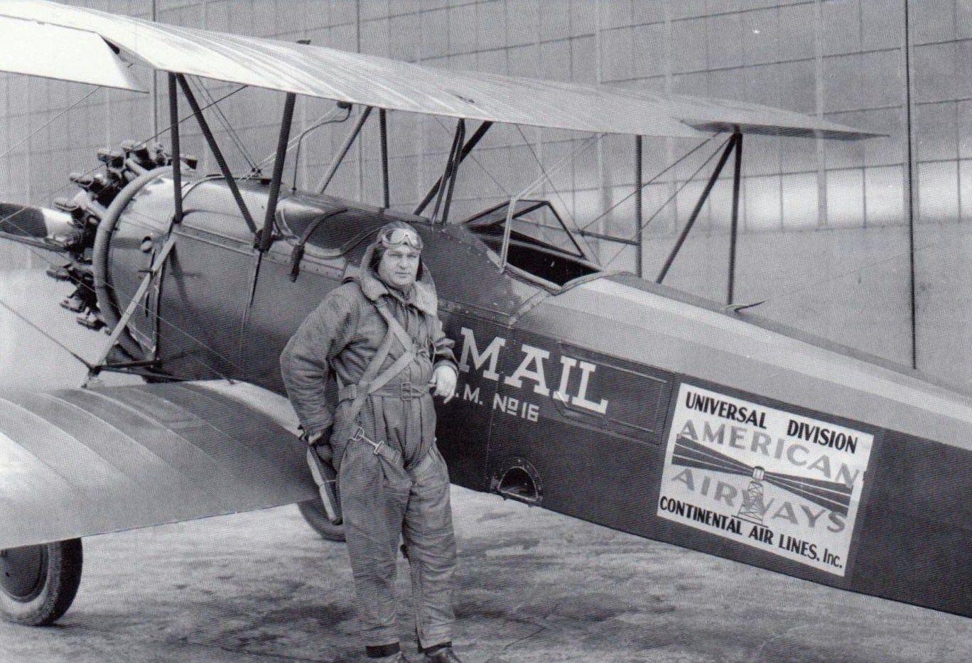 1935 Bowman Field U S Mail Pilot Aviation Insurance Vintage