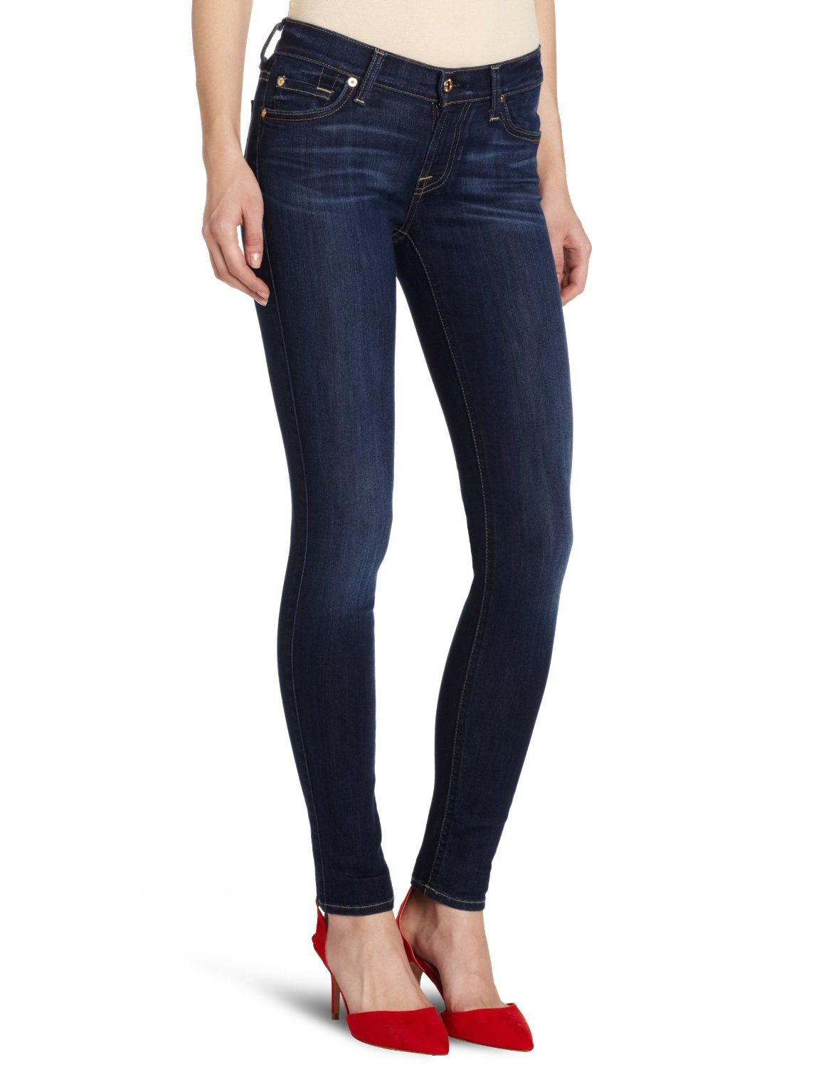 7 For All Mankind Womens The Skinny Jean In Sophisticated Siren