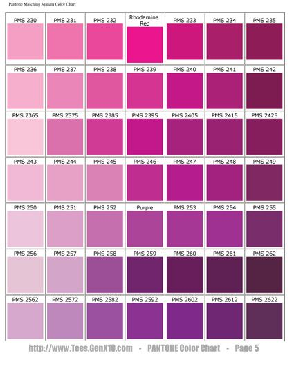 Pantone Color Chart Pms Screen Printing P A S T E L
