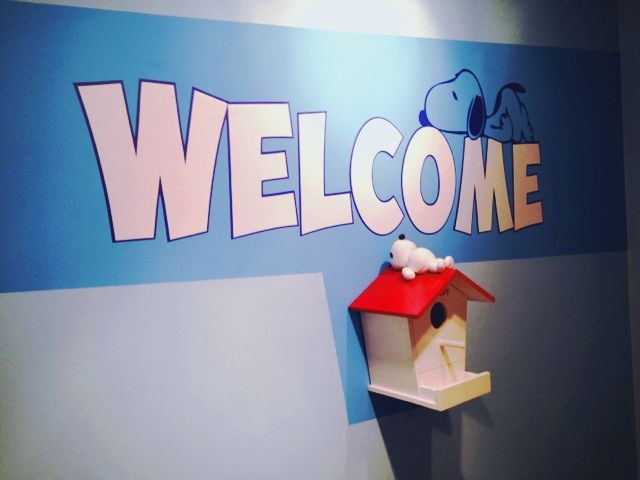 Una recepció original. Caseta Snoopy