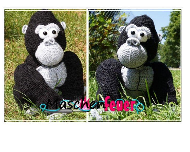 Gorilla Jengo, Häkelanleitung von Maschenfeuer auf DaWanda.com ...