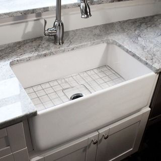 Italian Fireclay 30 Inch Farmhouse Kitchen Sink   Overstock™ Shopping    Great Deals On