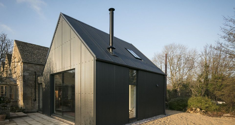 Corrugated Metal Extension Eastabrook Architects Archello Corrugated Metal Corrugated Metal Roof Stone Cottages