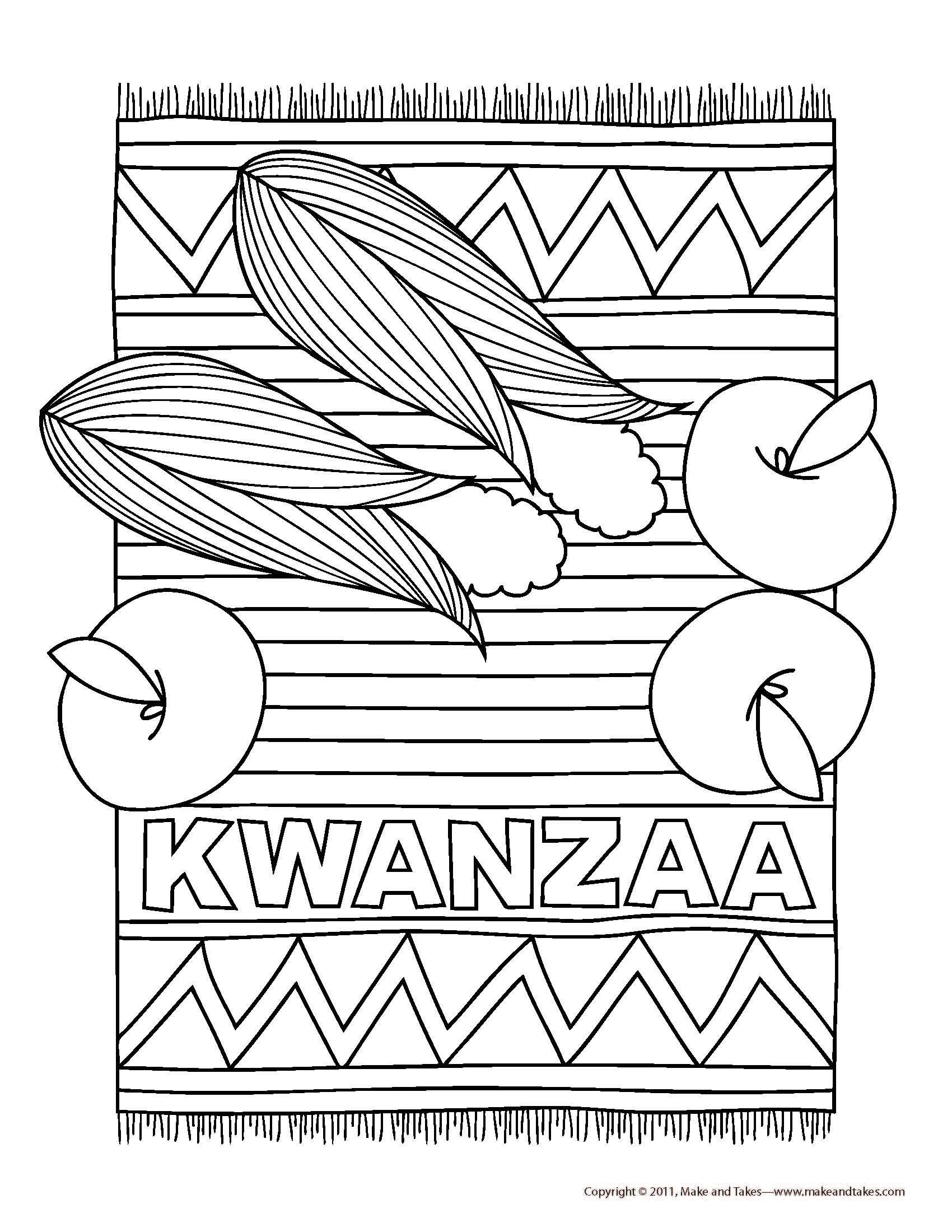 Luxury Happy Kwanzaa Coloring Pages Dengan Gambar