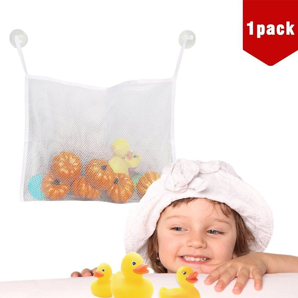1-pack Bath Toy Organizer - Large Storage Basket for Baby Boys and ...