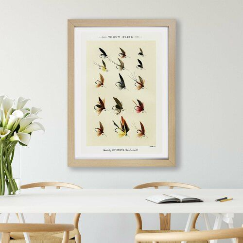 Framed Poster Trout Fishing Flies Version 4 by Mary Orvis Marbury East Urban Home Size: 63 cm H x 45 cm W x 2 cm D, frame type: Oak -  Framed Poster Trout Fishing Flies Version 4 by Mary Orvis Marbury East Urban Home Size: 63 cm H x 4 - #bassfishing #East #fishing #fishingtips #flies #Frame #Framed #home #Marbury #Mary #Oak #orvis #poster #size #trout #troutfishing #type #Urban #version