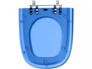 Assento Sanitário Azul Translúcido Etna - para Louça Icasa - Pontto Lavabo