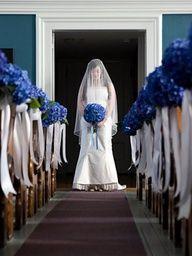 Royal Blue Wedding Ideas Wedding Aisle Church Wedding