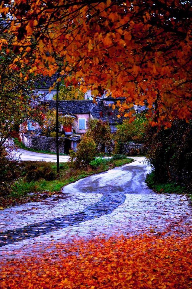 Monodendri, one of the most beautiful villages of Zagorochoria in Epirus , Greece
