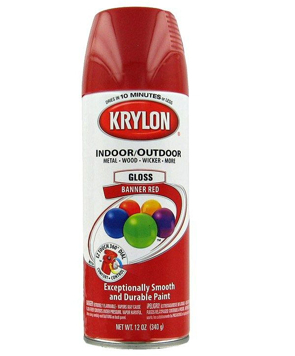 krylon red paint for rooster mason jars at sewlicioushomedecor.com